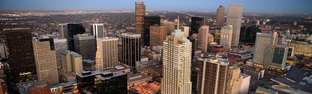 Downtown Denver Skyline Aerial