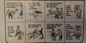 Hank's Billiards Pool Etiquette