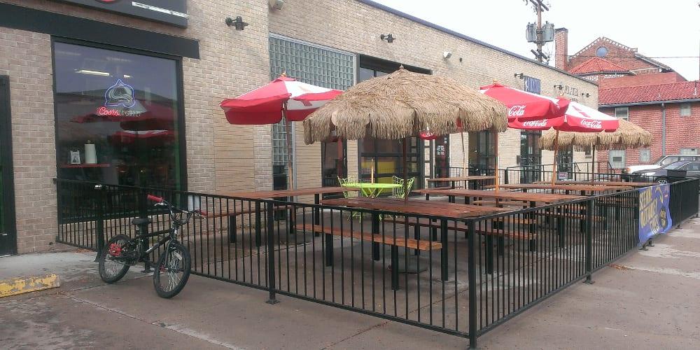 fuzzys taco shop patio - Taco Patio
