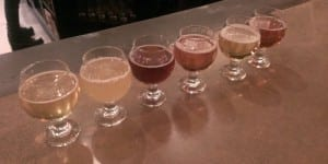 Lost Highway Brewing Beer Flight