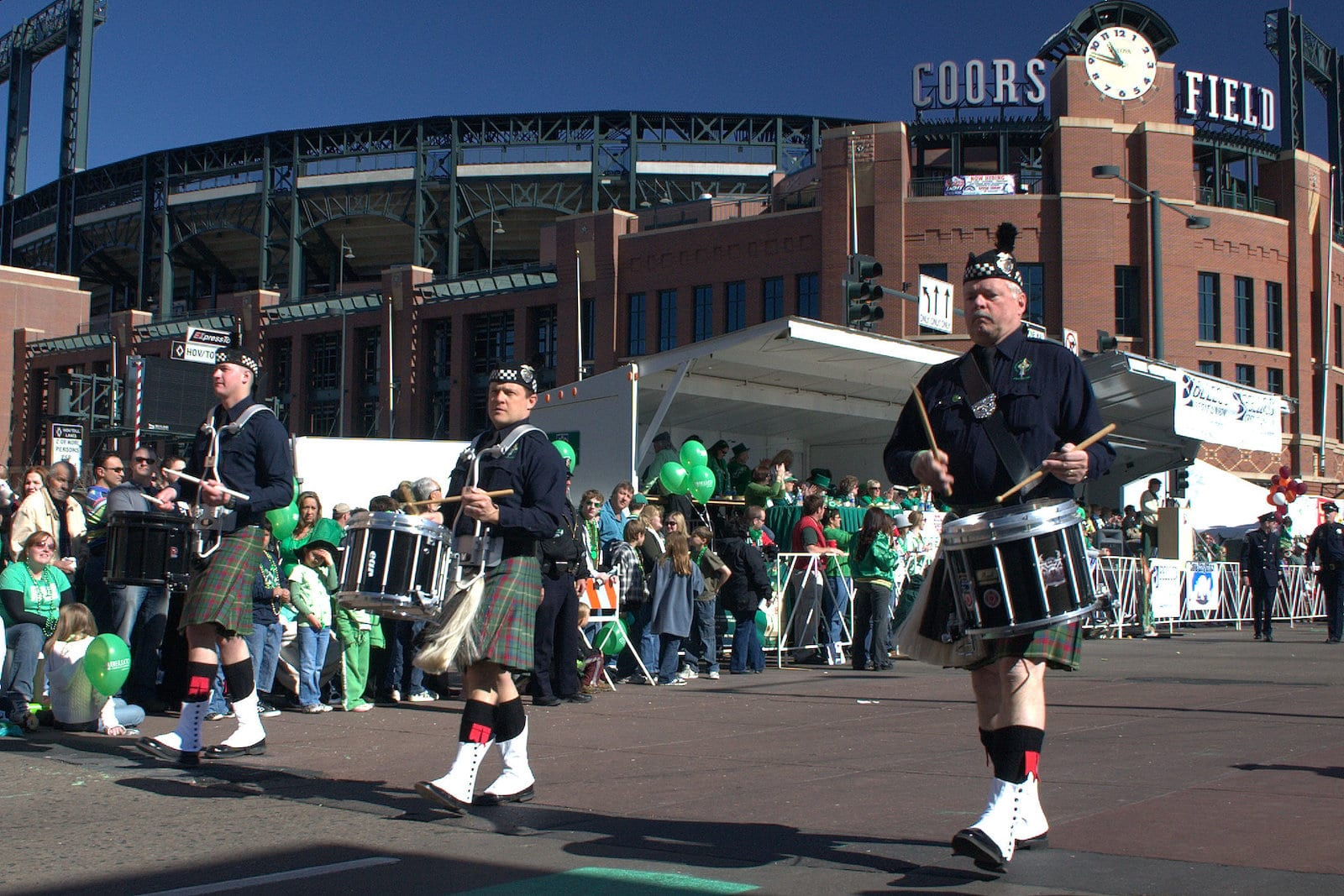 St Patty's Day Parade Downtown Denver CO Coors Field