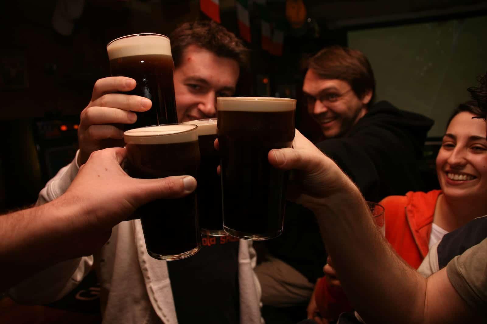 Sláinte Irish Cheer Guinness Pints Saint Patrick's Day