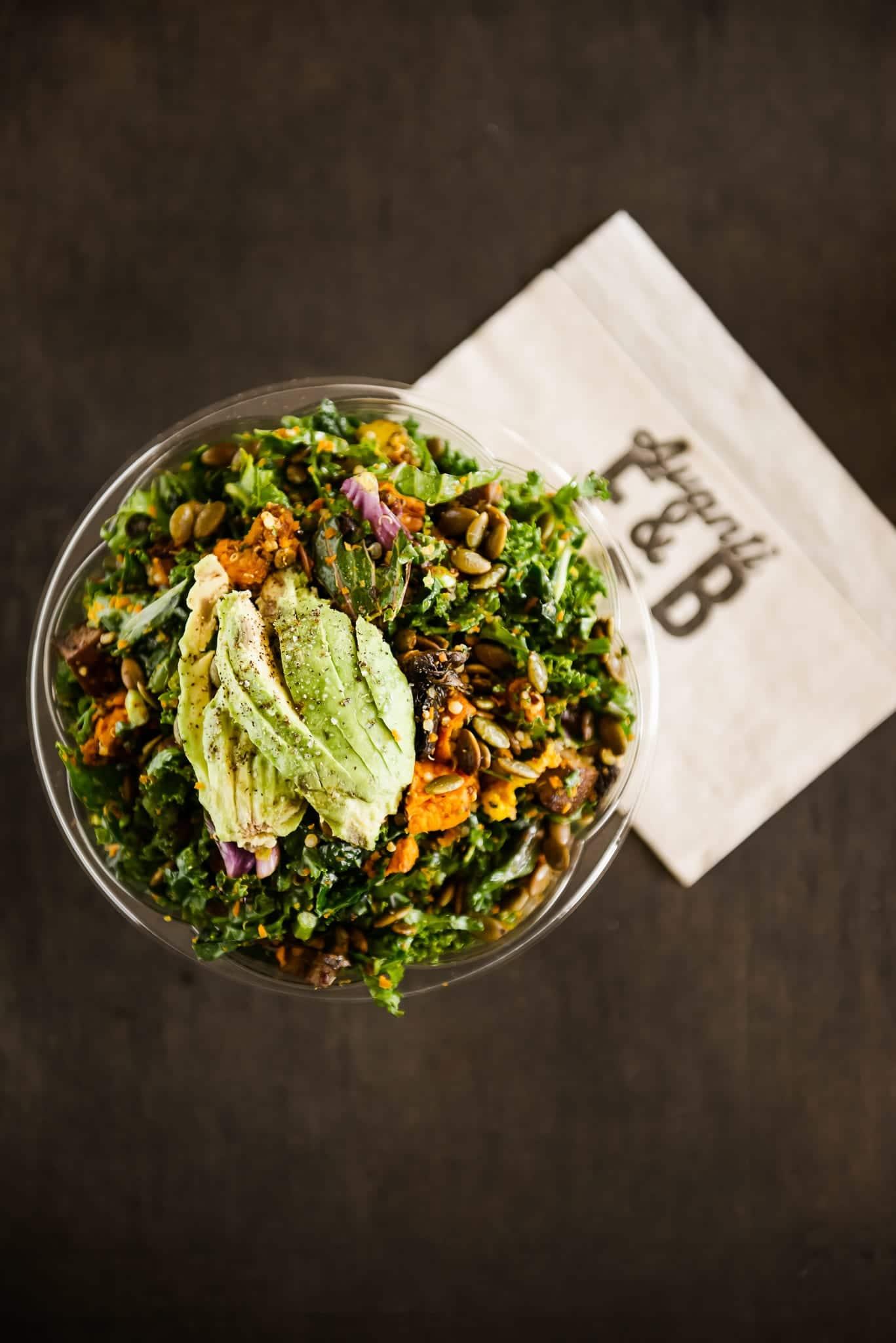 image of vegan bowl at rye society, avanti boulder