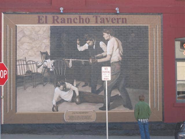 El Rancho Tavern Durango CO Jack Dempsey Mural