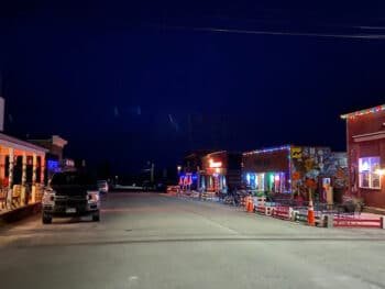 Fairplay Colorado Bars on Front Street at night