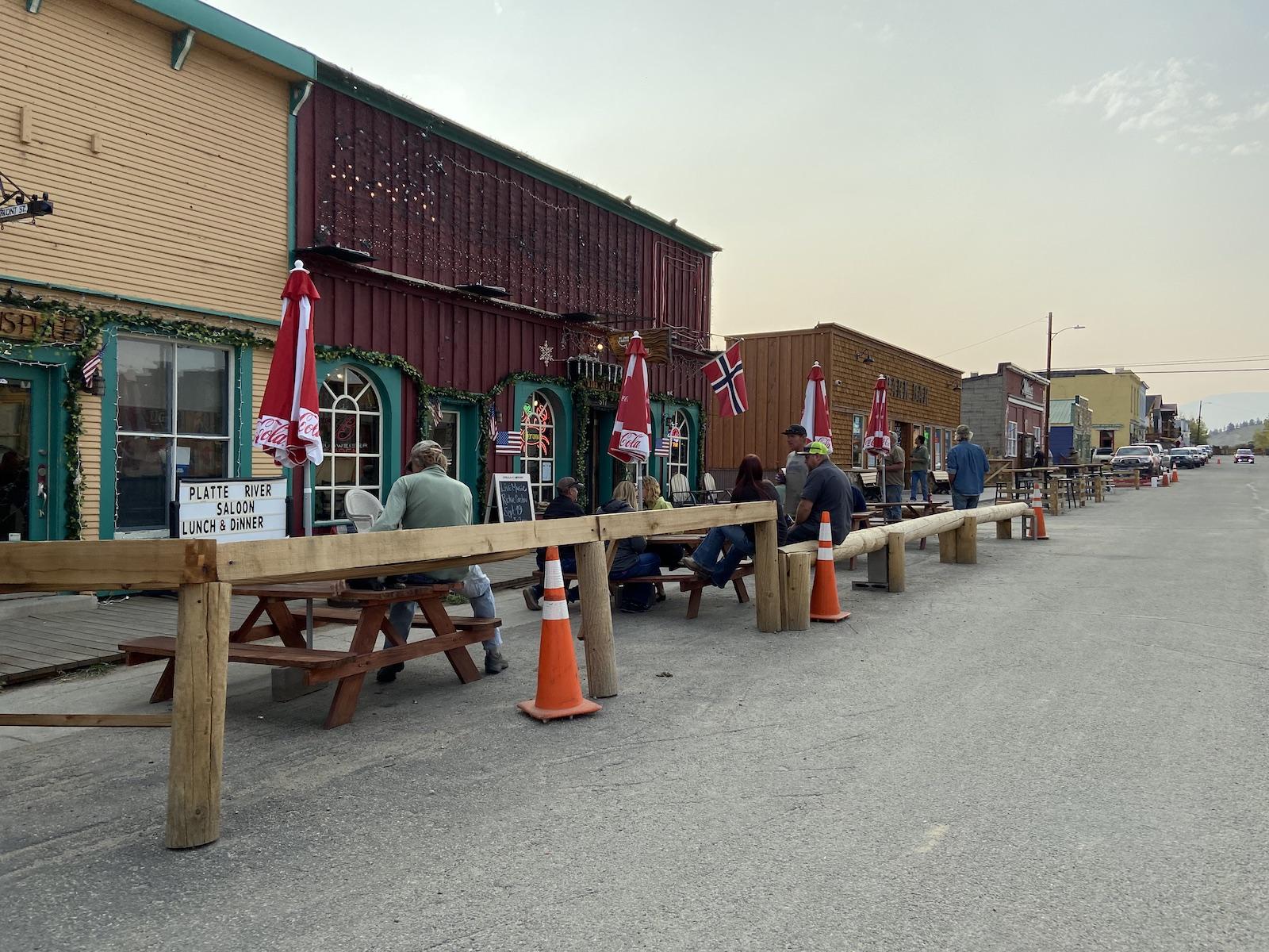 Fairplay Colorado Patio Bars on Fall Day