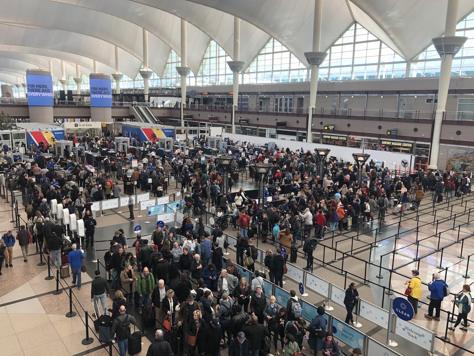 Jeppesen Terminal Denver Airport Crowd